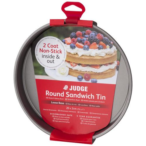 Judge Bakeware Non-Stick Loose Base Round Sandwich Tin