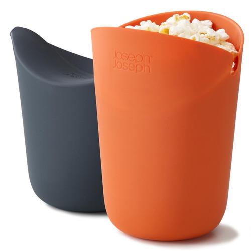 Orange/Grey Joseph Joseph M-Cuisine Single- Serve Popcorn Maker