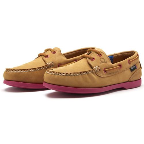 Tan/Pink Chatham Womens Pippa II G2 Deck Shoes