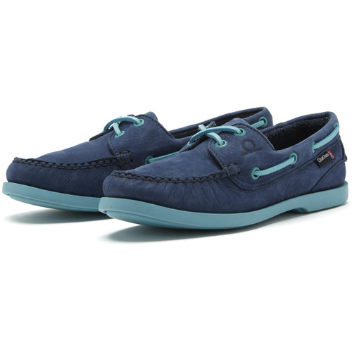 Navy/Turquoise Chatham Womens Pippa II G2 Deck Shoes
