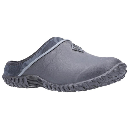 Black/Grey Plaid Muck Boot Fleece Clogs