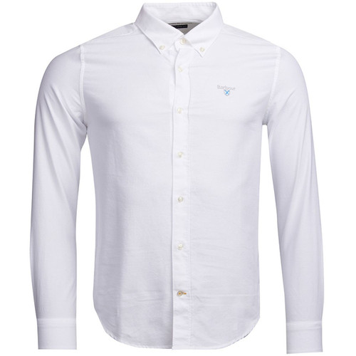 White Barbour Mens Oxford 3 Tailored Shirt
