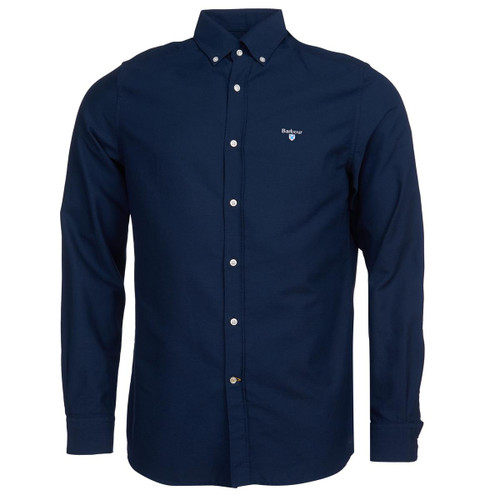 Navy Barbour Mens Oxford 3 Tailored Shirt