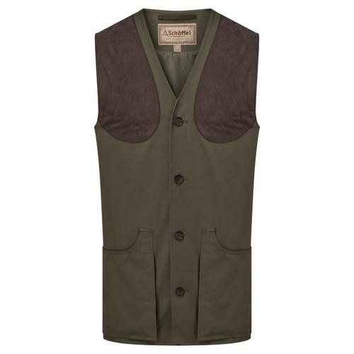 Dark Olive Schoffel Mens All Seasons Shooting Vest