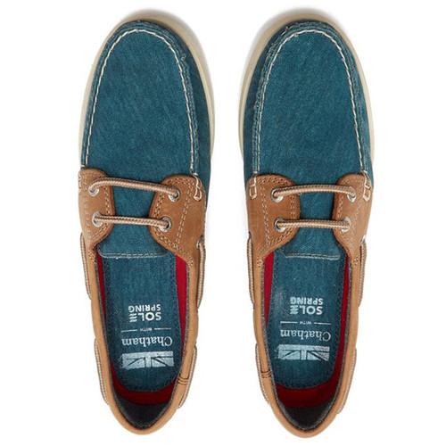 Blue/Tan Chatham Womens Bantham Boat Shoes