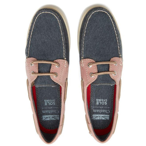 Navy/Pink Chatham Womens Bantham Boat Shoes