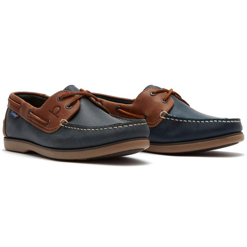 Navy/Tan Chatham Mens Whitstable Boat Shoes