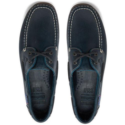 Navy Chatham Mens Whitstable Boat Shoes
