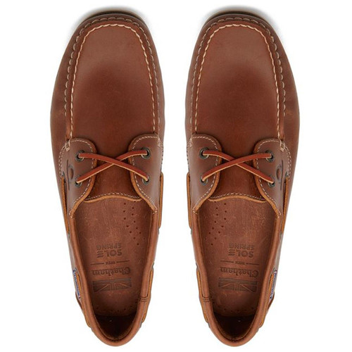 Tan Chatham Mens Whitstable Boat Shoes