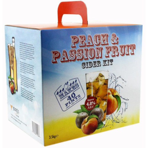 Youngs Peach & Passion Fruit Cider - 40 pint / 23L