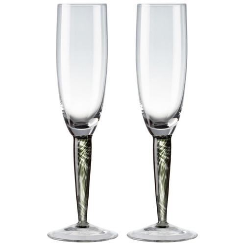 Denby Jet Champagne Flute Pack Of 2