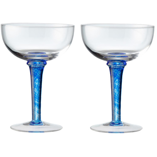 Denby Imperial Blue Champagne Saucers Pack Of 2