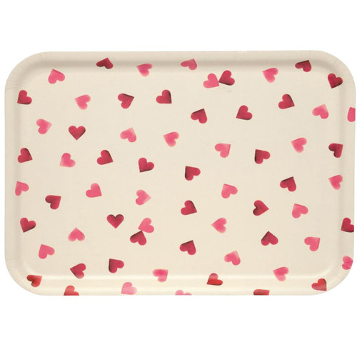 Emma Bridgewater Pink Hearts Rectangular Birch Tray