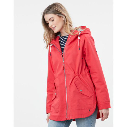 Red Joules Womens Shoreside Coastal Waterproof Jacket