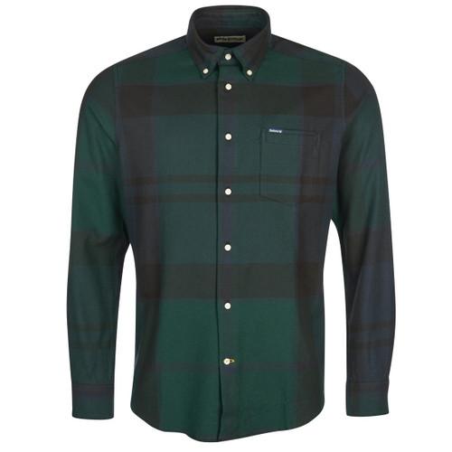Black Watch Tartan Barbour Mens Dunoon Tailored Shirt