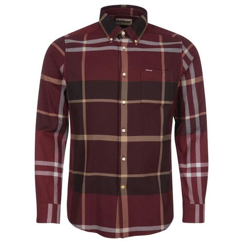 Winter Red Tartan Barbour Mens Dunoon Tailored Shirt