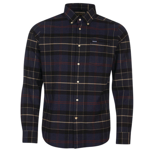 Navy Marl Barbour Mens Lutsleigh Tailored Shirt