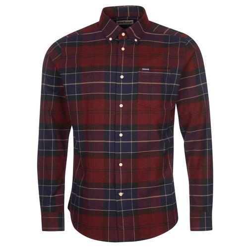 Merlot Barbour Mens Lutsleigh Tailored Shirt