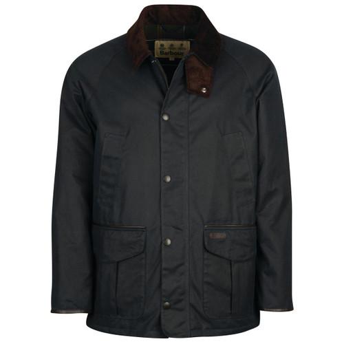 Navy Barbour Mens Stratford Wax Jacket