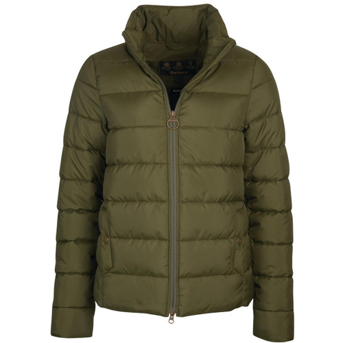 Olive Barbour Womens Hinton Quilted Jacket