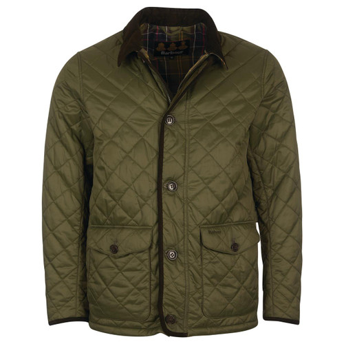 Olive/Classic Barbour Mens Horden Quilted Jacket