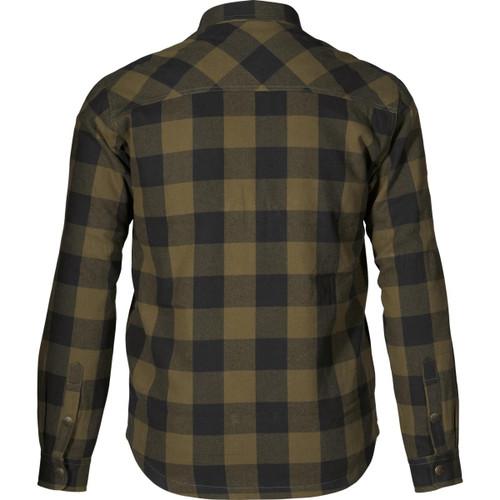 Green Check Seeland Mens Canada Shirt Back