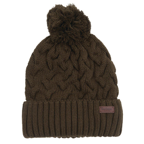 Olive Barbour Mens Gainford Cable Beanie