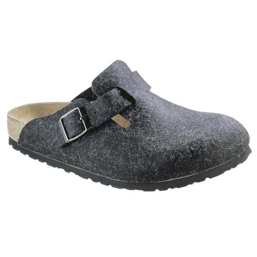 Anthracite Birkenstock Unisex Boston Wool Felt Clog