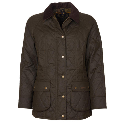 Olive/Classic Barbour Womens Wardley Wax Jacket