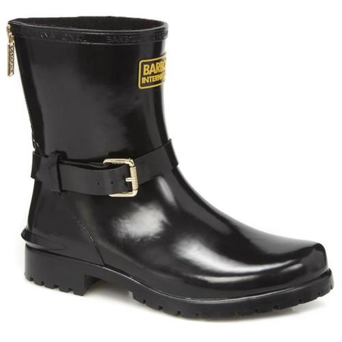 Black Barbour International Womens Mugello Wellington Boots