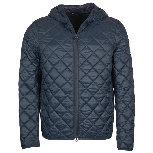 Navy Barbour Mens Hooded Quilted Jacket