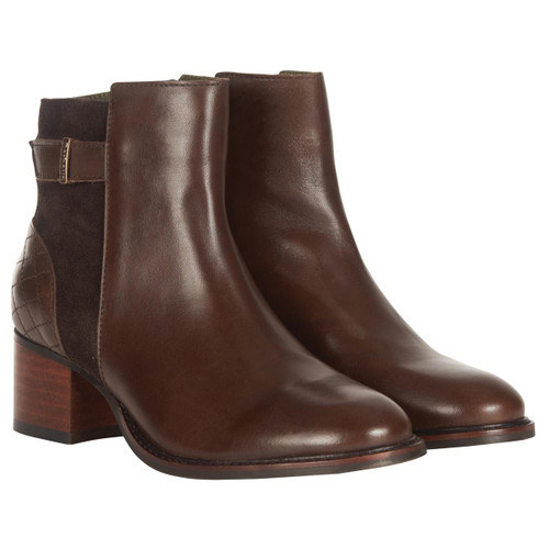 Choco Barbour Womens Janice Boots