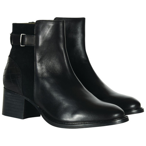 Black Barbour Womens Janice Boots