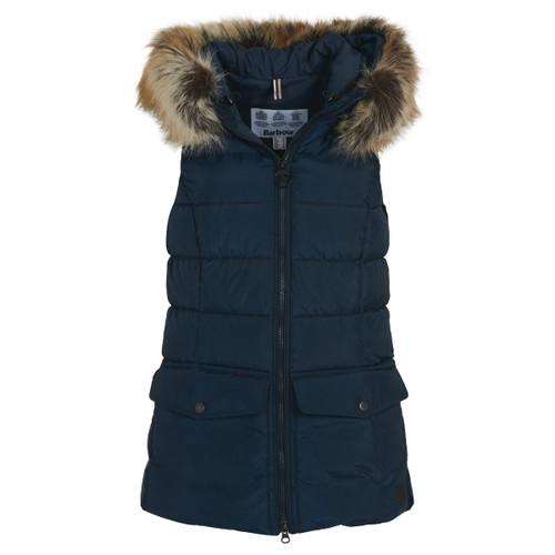 Navy Barbour Womens Bayside Gilet