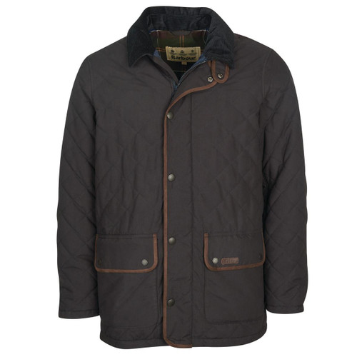 Navy Barbour Mens Burton Quilted Jacket