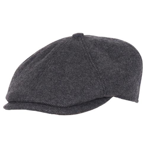 Charcoal Barbour Mens Claymore Bakerboy Hat
