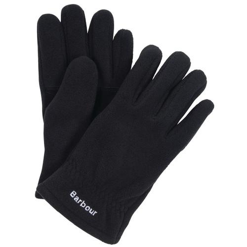 Black Barbour Mens Coalford Fleece Gloves