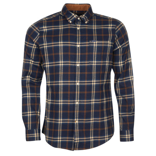 Blue Barbour Mens Crossfell Tailored Shirt