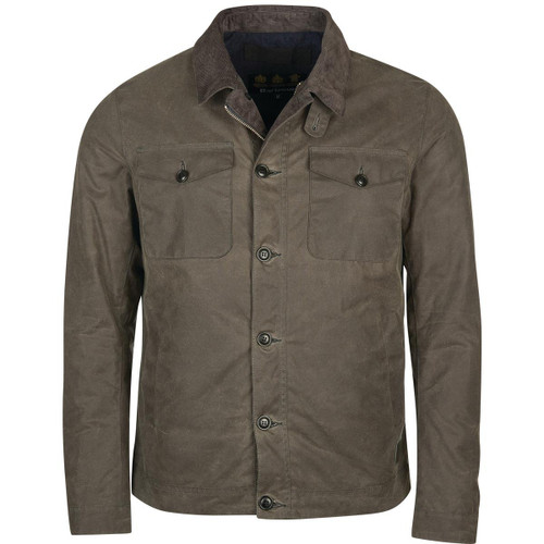 Charcoal Barbour Mens West Wax Jacket
