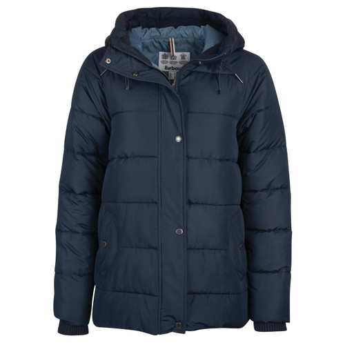 Navy Barbour Womens Tidepool Quilted Jacket