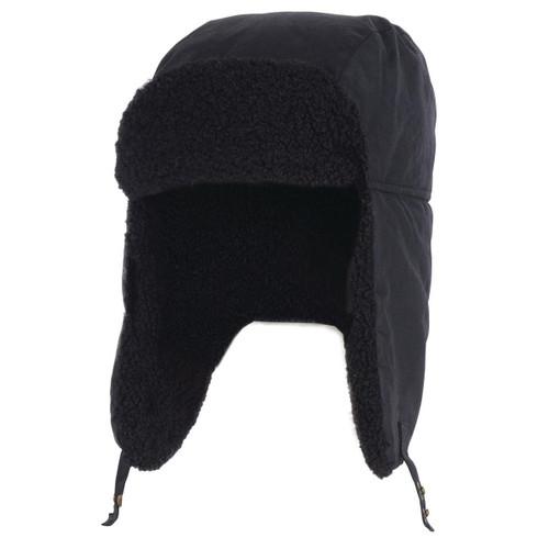 Black Barbour Mens Morar Wax Trapper Hat