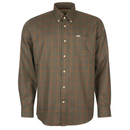 Olive Barbour Mens Henderson Thermo Weave Shirt