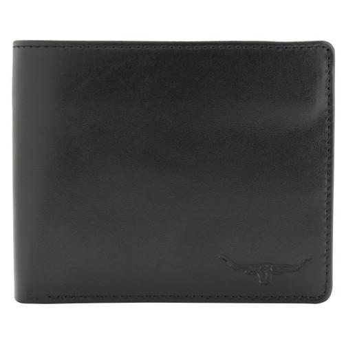 Black R.M. Williams Mens Tri-Fold Wallet