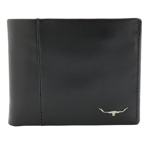 Black R.M. Williams Mens Wallet With Coin Pocket