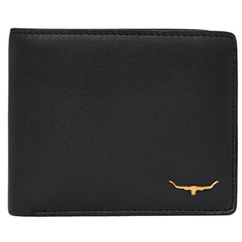 Black R. M. Williams Mens City Slim Bi-Fold Wallet