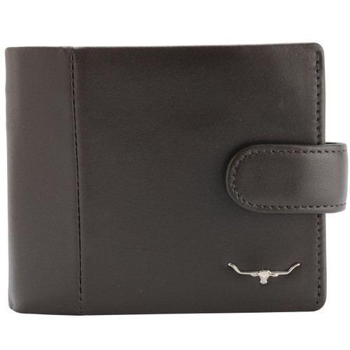 Brown R.M. Williams Mens Wallet With Coin Pocket And Tab