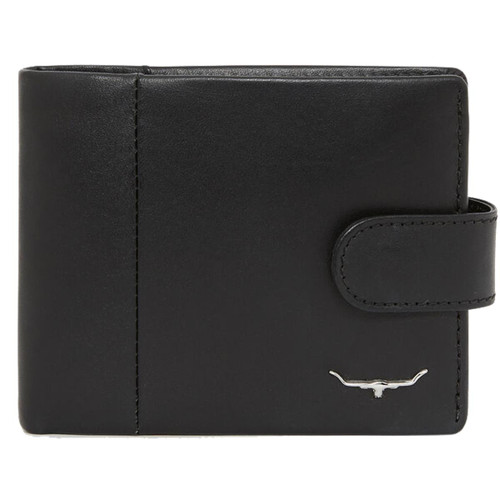 Black R.M. Williams Mens Wallet With Coin Pocket And Tab