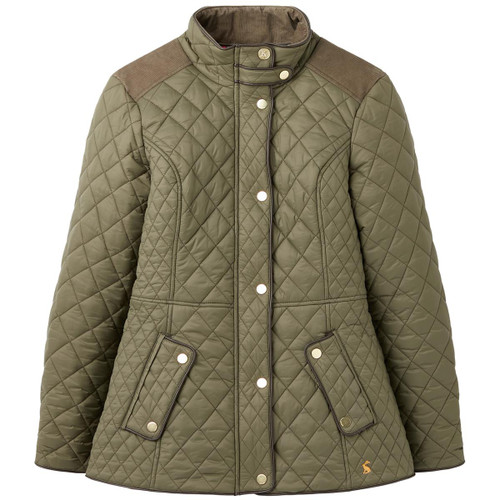 Grape Leaf Joules Womens Newdale Quilted Coat