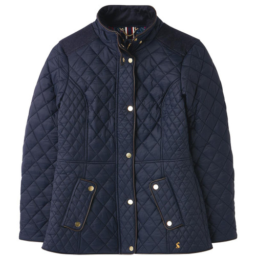 Marine Navy Joules Womens Newdale Quilted Coat