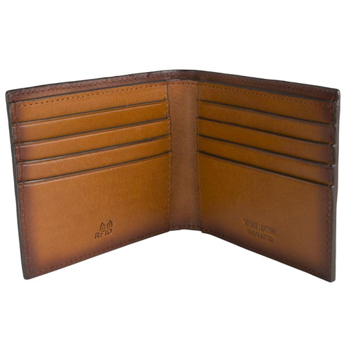 Brown Loake Midland Wallet Open